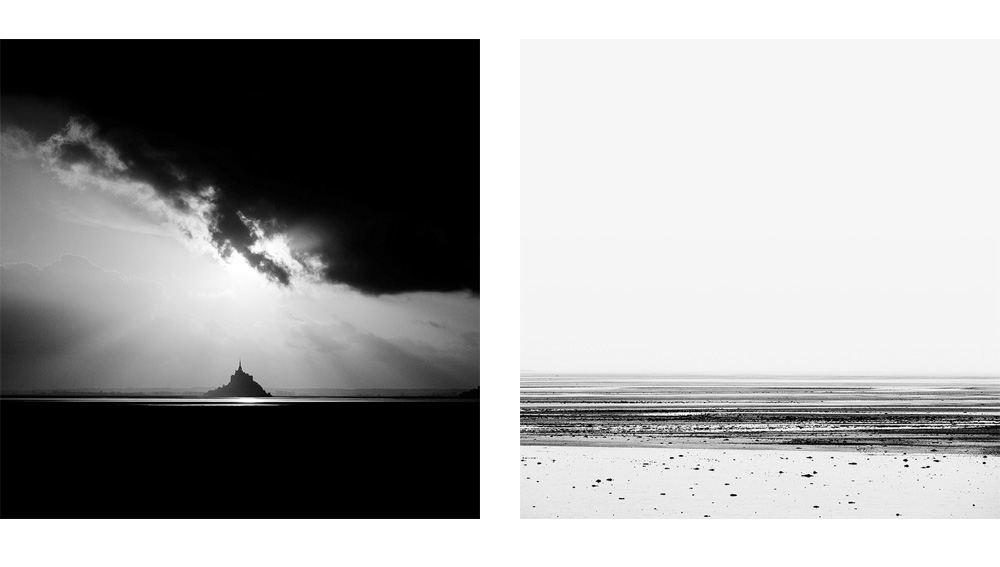 Photographies noir et blanc dans la Manche