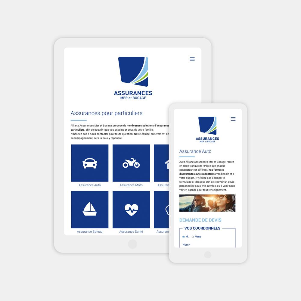 Création site internet responsive tablette et téléphone dans la Manche