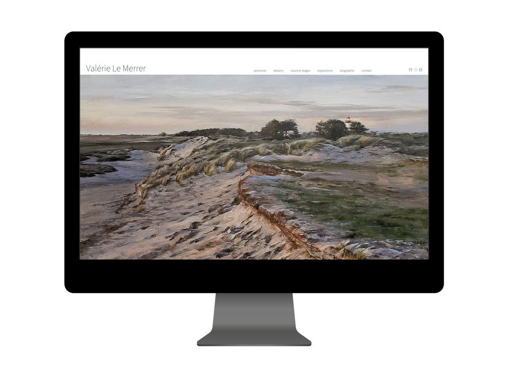 Création site portfolio pour artiste dans la Manche